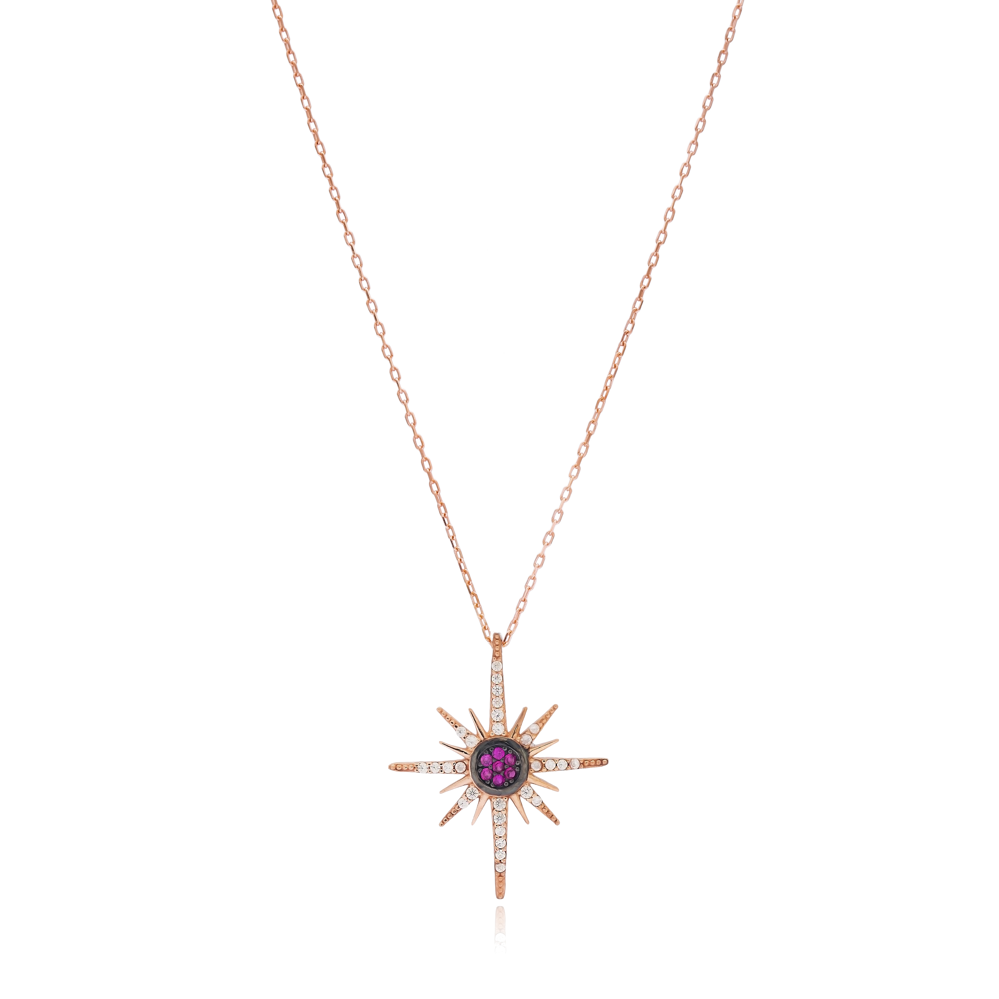 Pole Star Necklace Pink