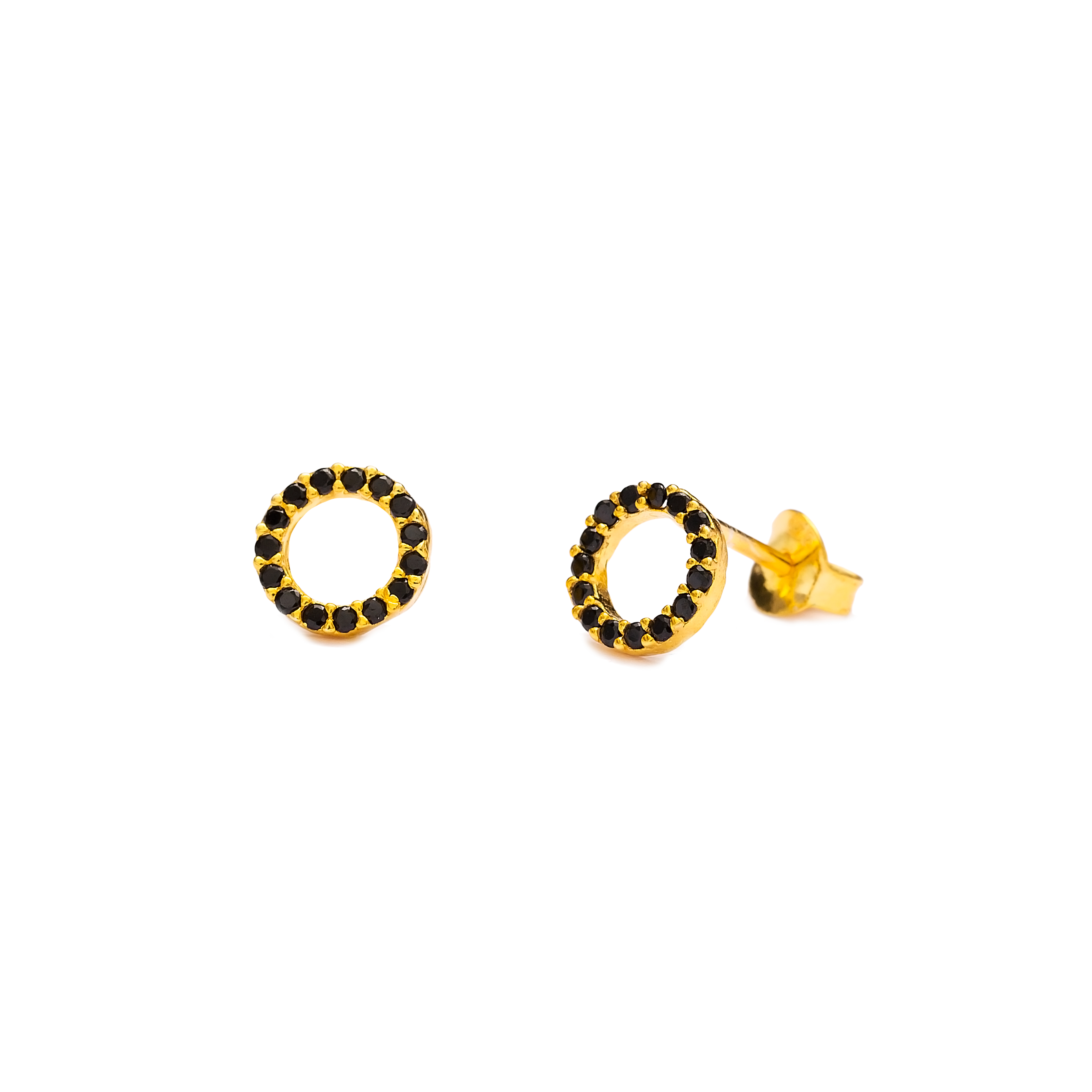 Mini Hollow Earrings Black