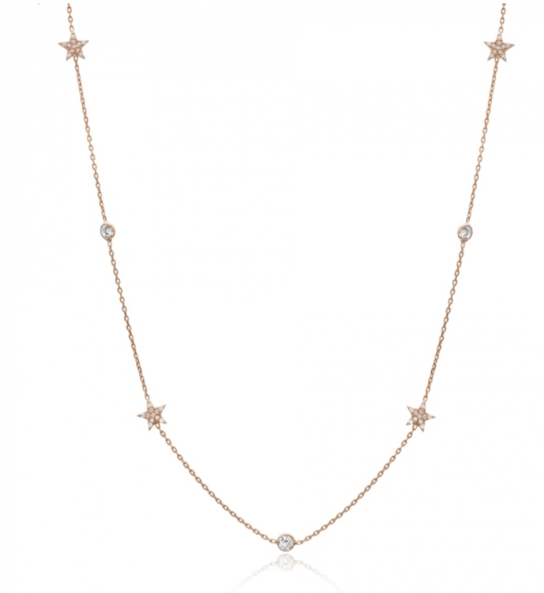 Raindrop and star necklace