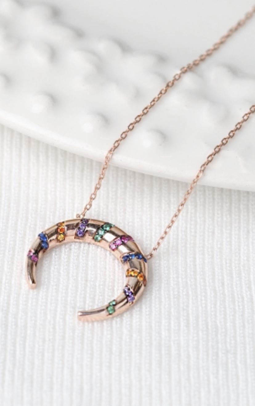 Rainbow Horn necklace