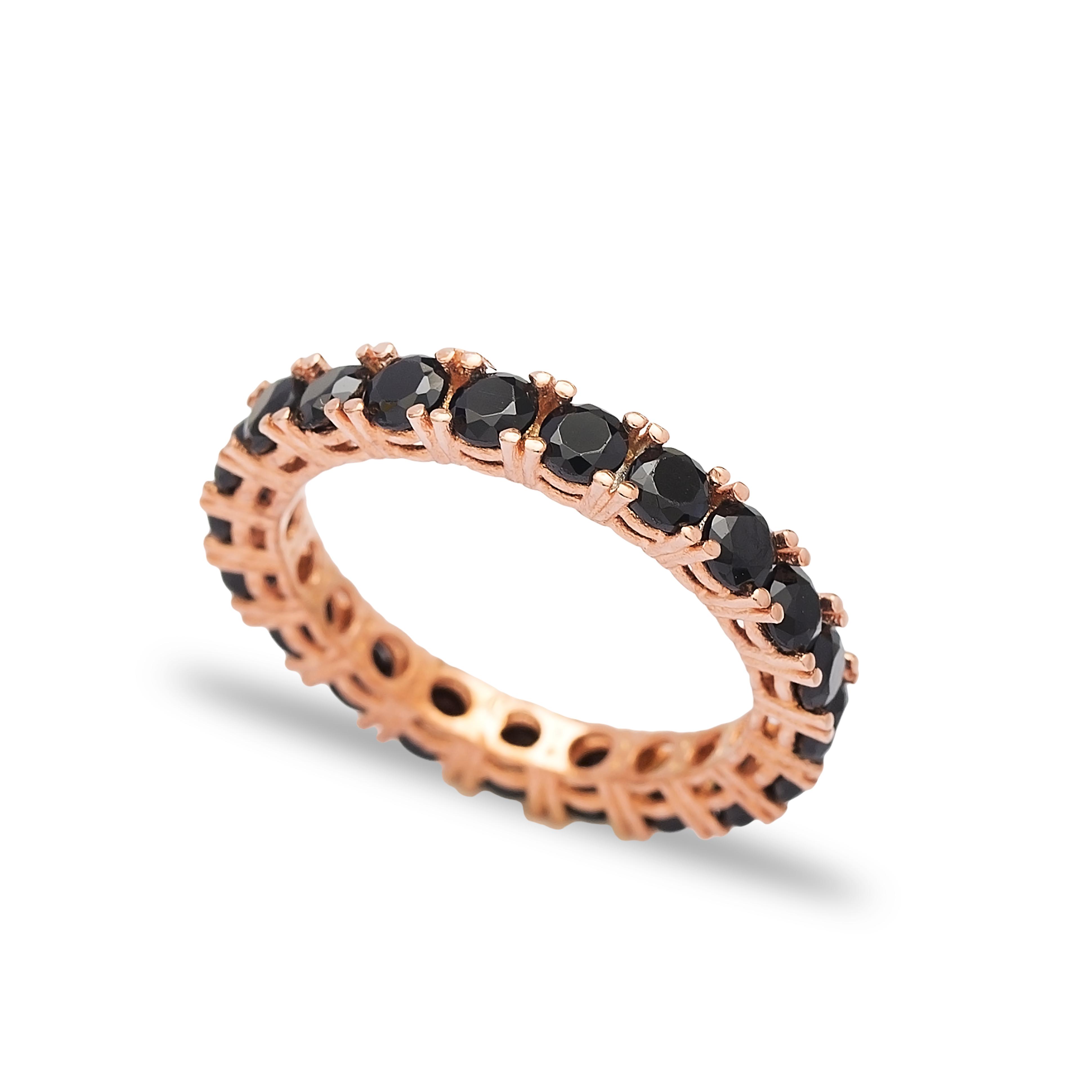 Band Ring Black Rose Gold