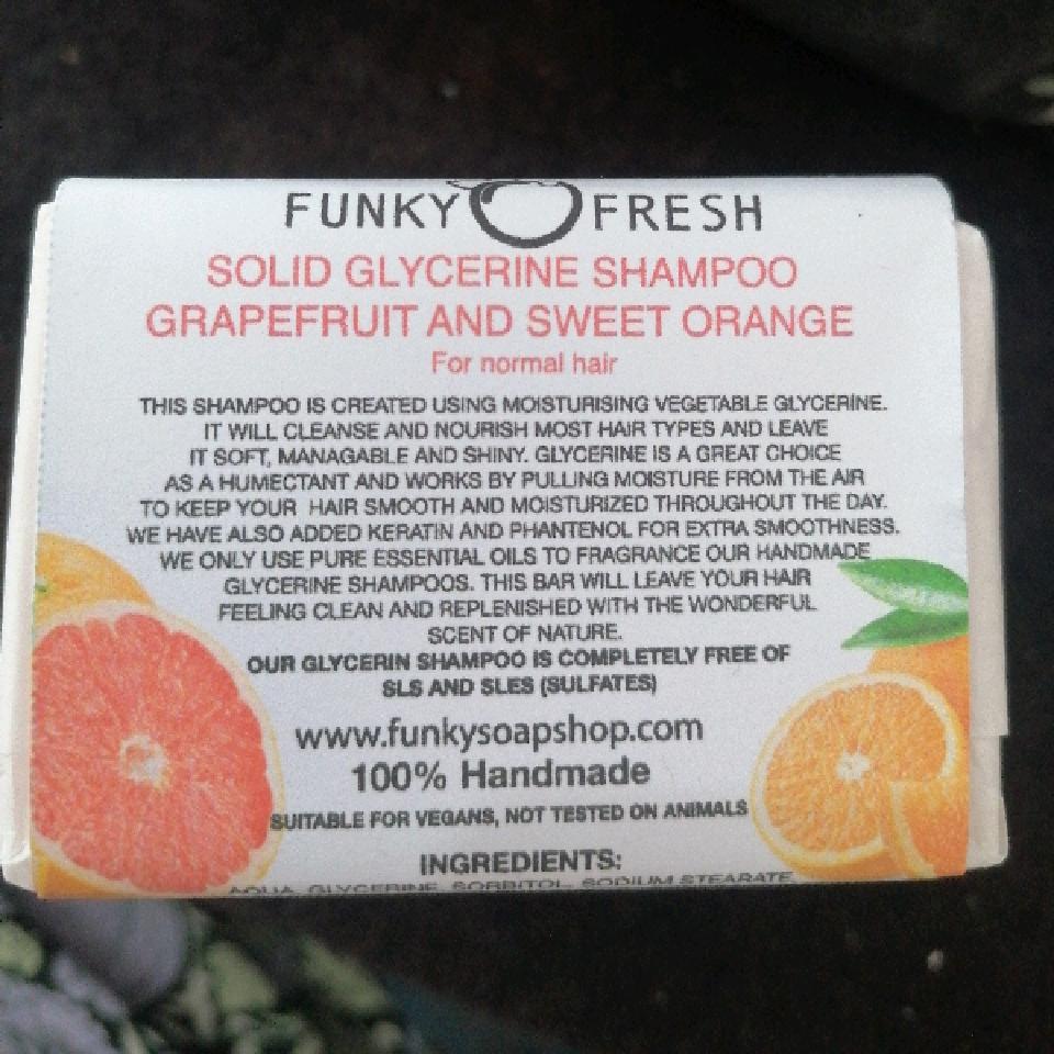 Funky Fresh Grapefruit & Sweet Orange glycerin shampoo For Normal Hair 95g