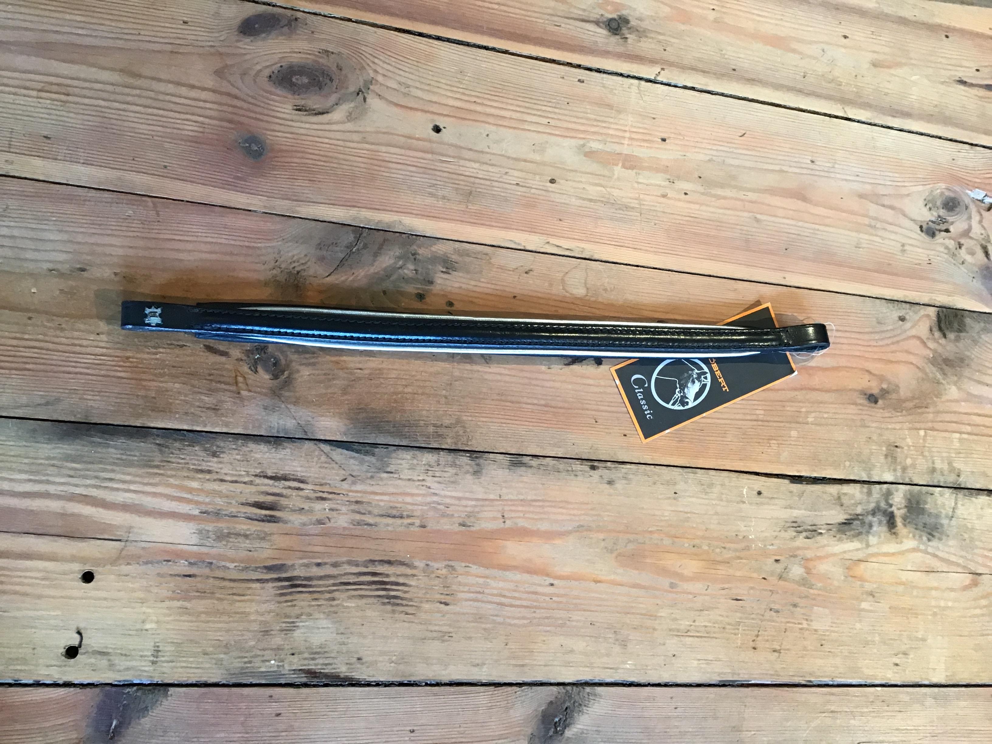 Pandebånd Döbert sort med sølv cob