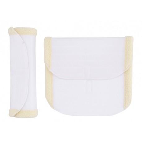 HG Bandage pad m. Imit. Lam hvid