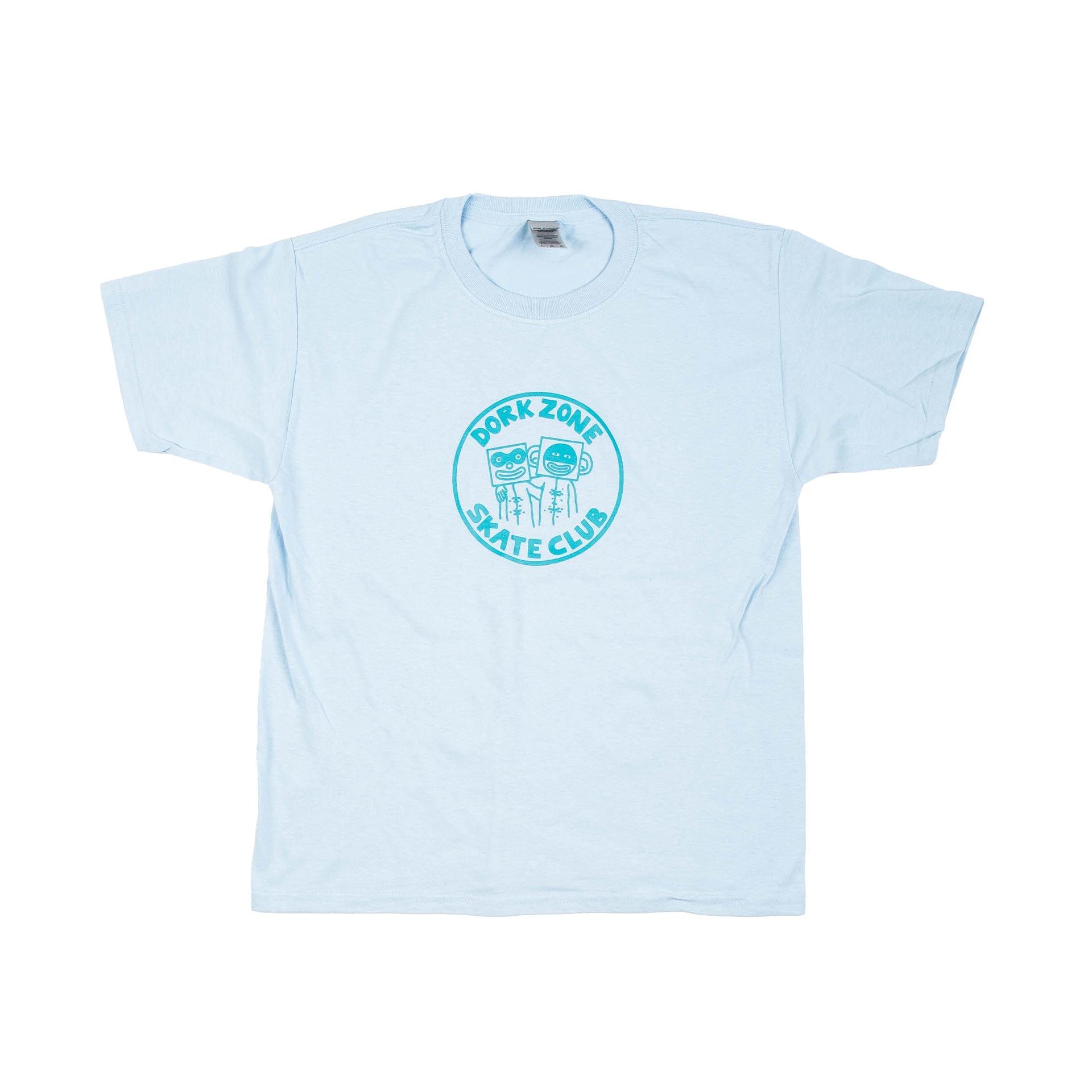 Dorkzone Skate Club Kids T-Shirt Light Blue