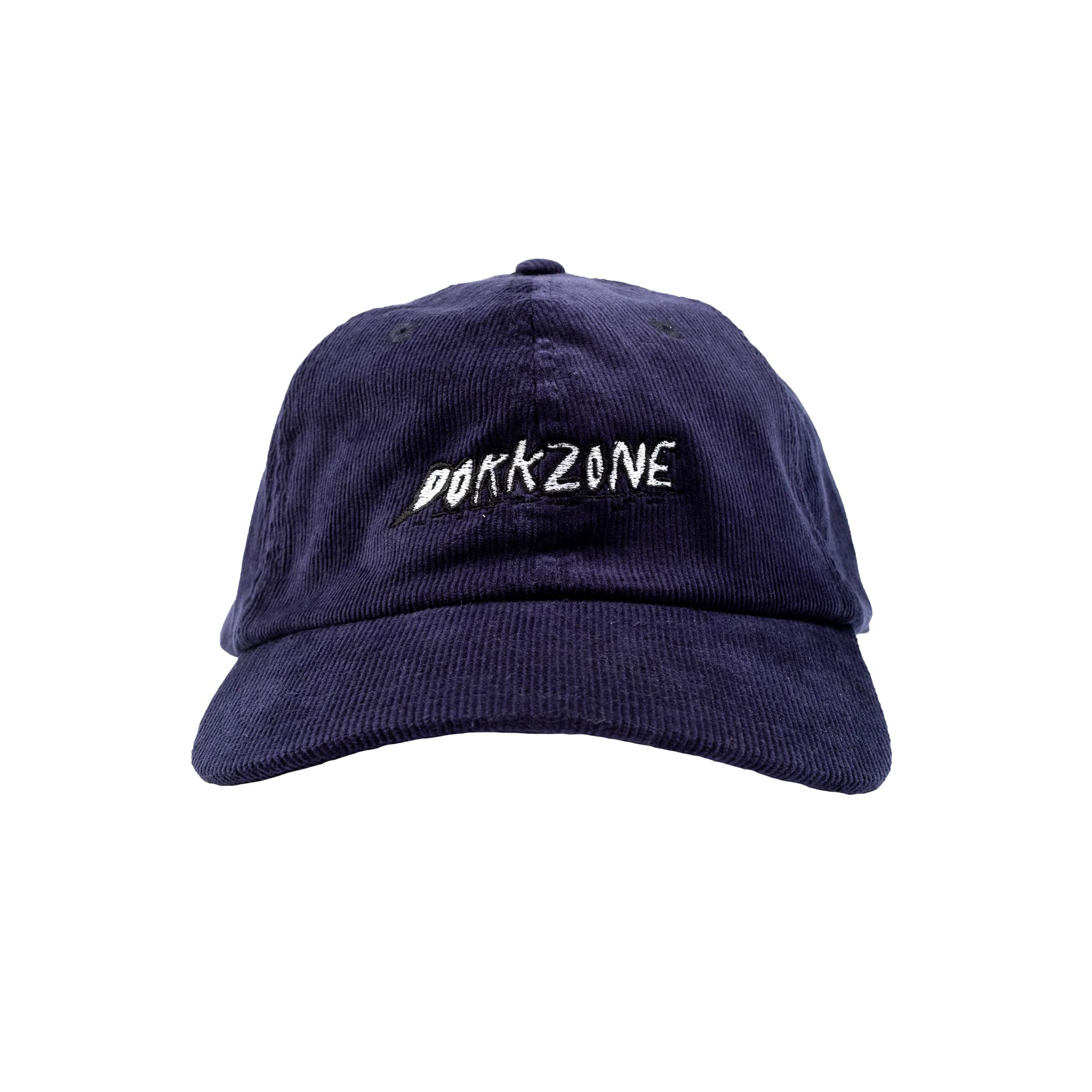 Dorkzone Embroided Ink Text Corduroy Cap Navy