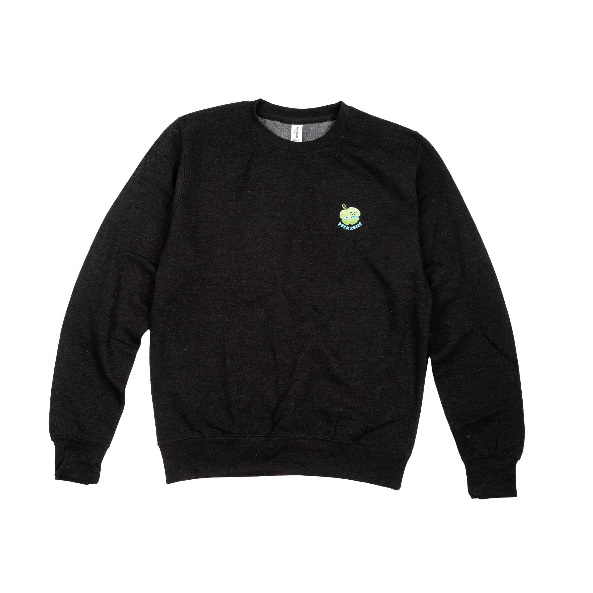 Dorkzone Embroided Apple Sweatshirt Black Smoke