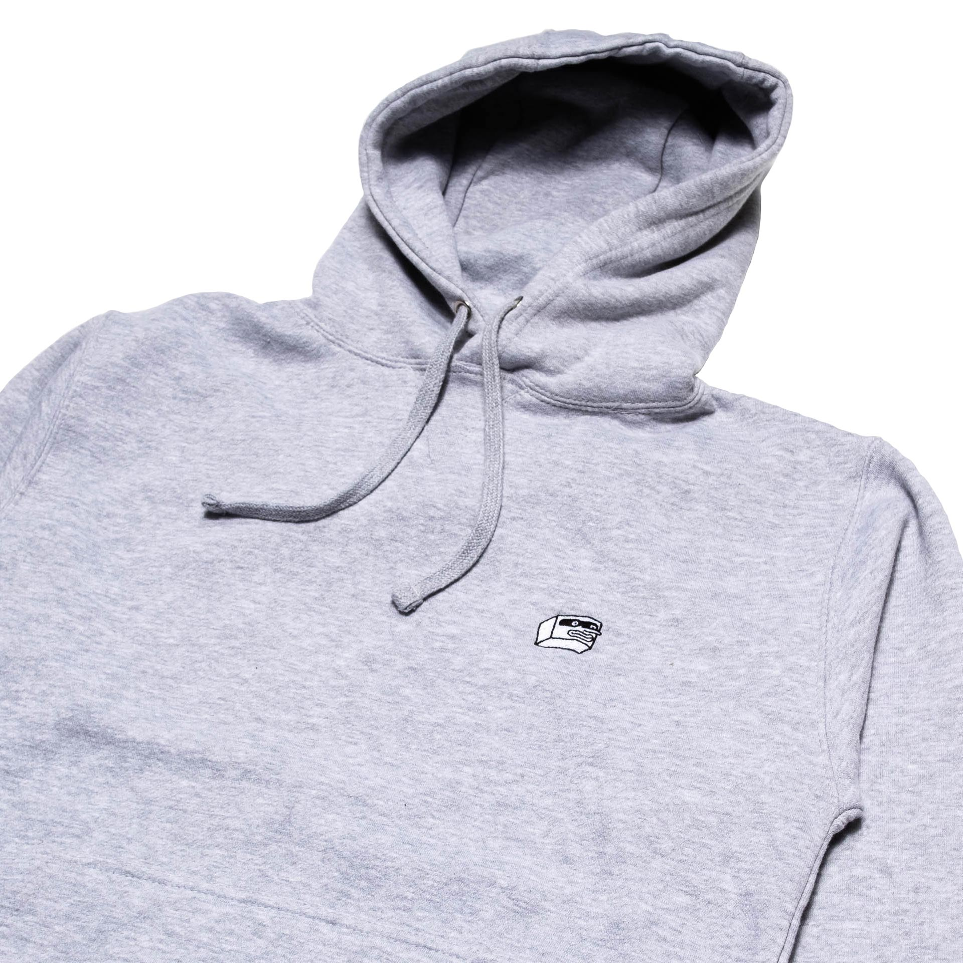 Dorkzone Embroided Boxhead Hoodie Heather Grey