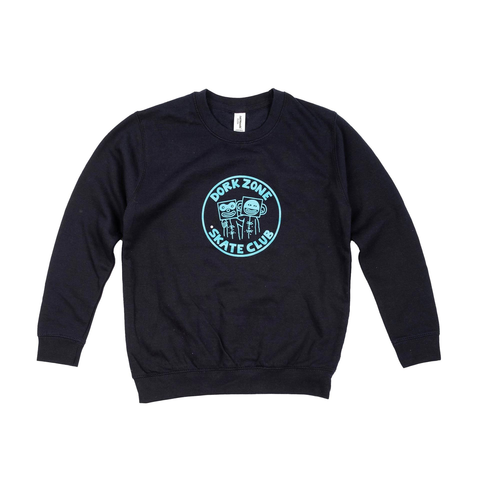 Dorkzone Skate Club Kids Sweatshirt New French Navy