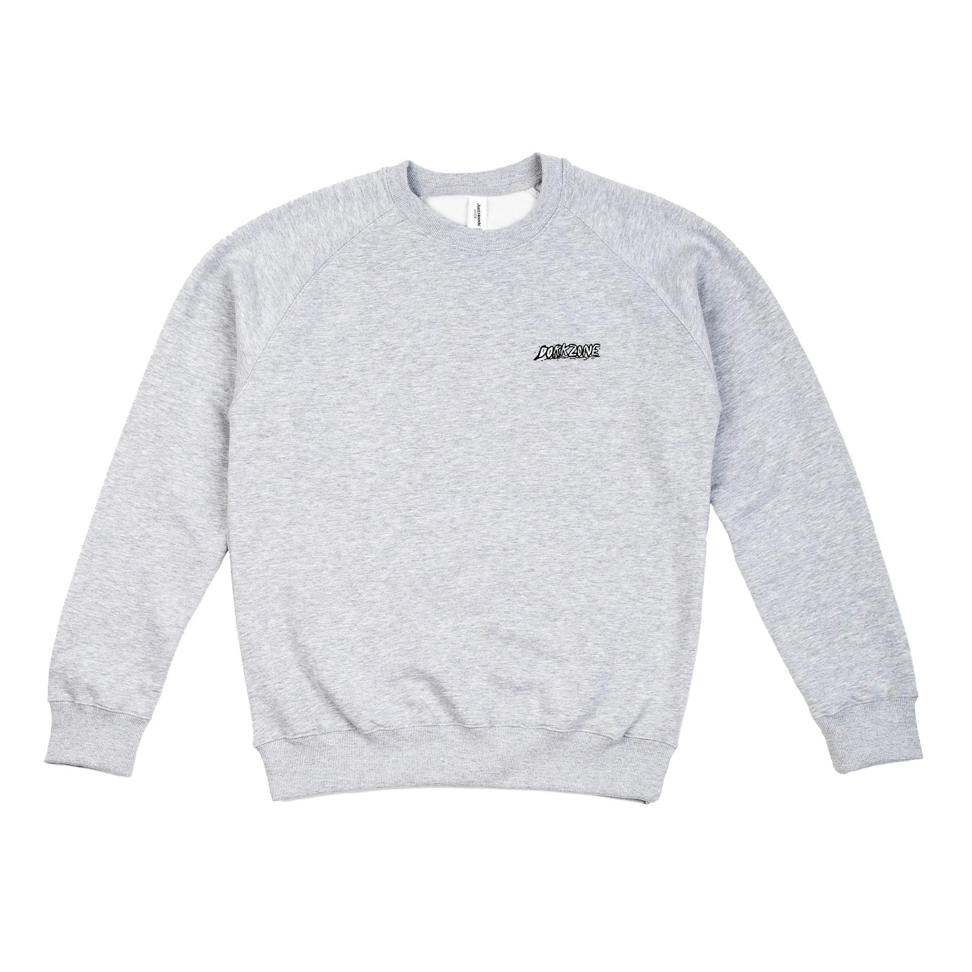 Dorkzone Embroided Ink Text Sweatshirt Heather Grey