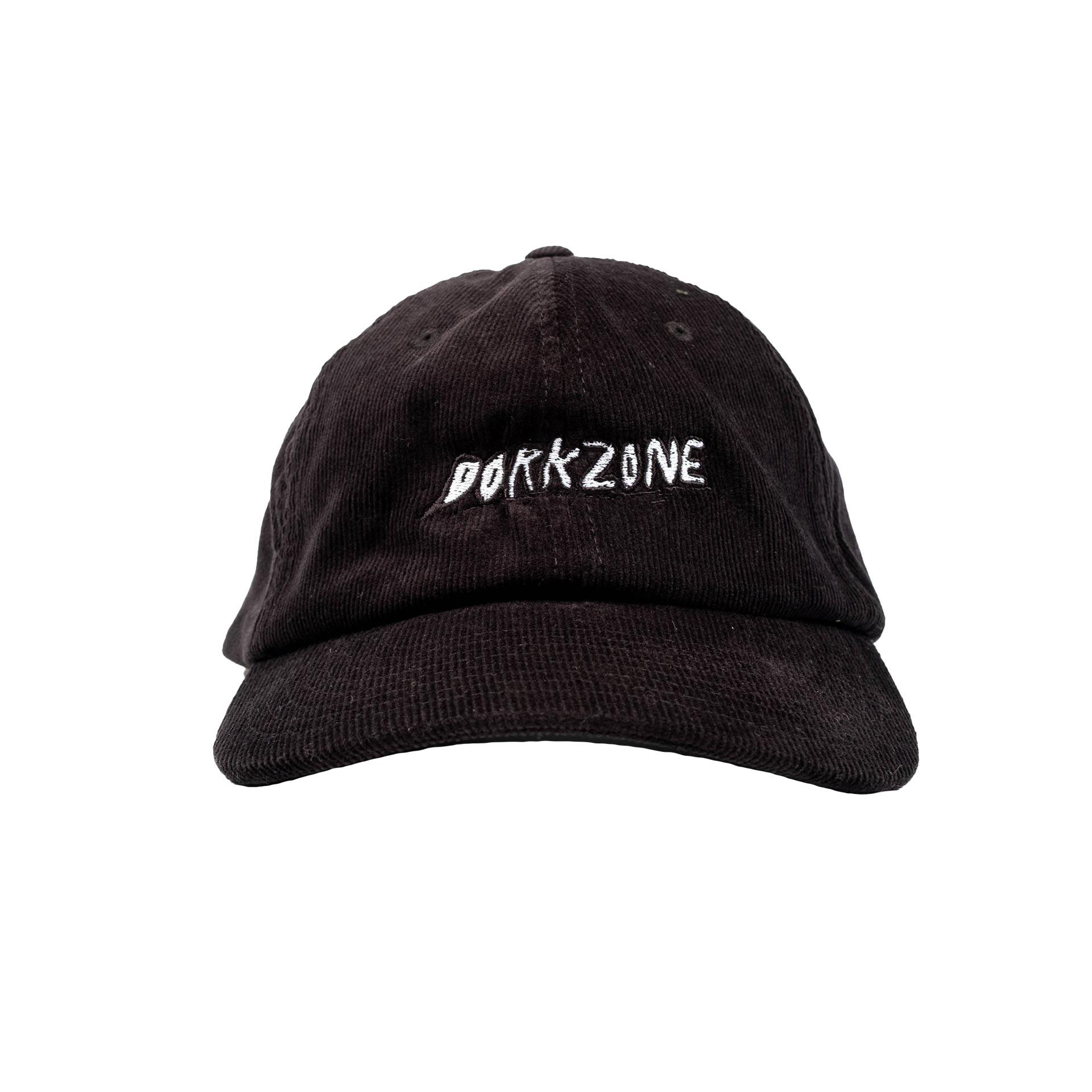 Dorkzone Embroided Ink Text Corduroy Cap Black