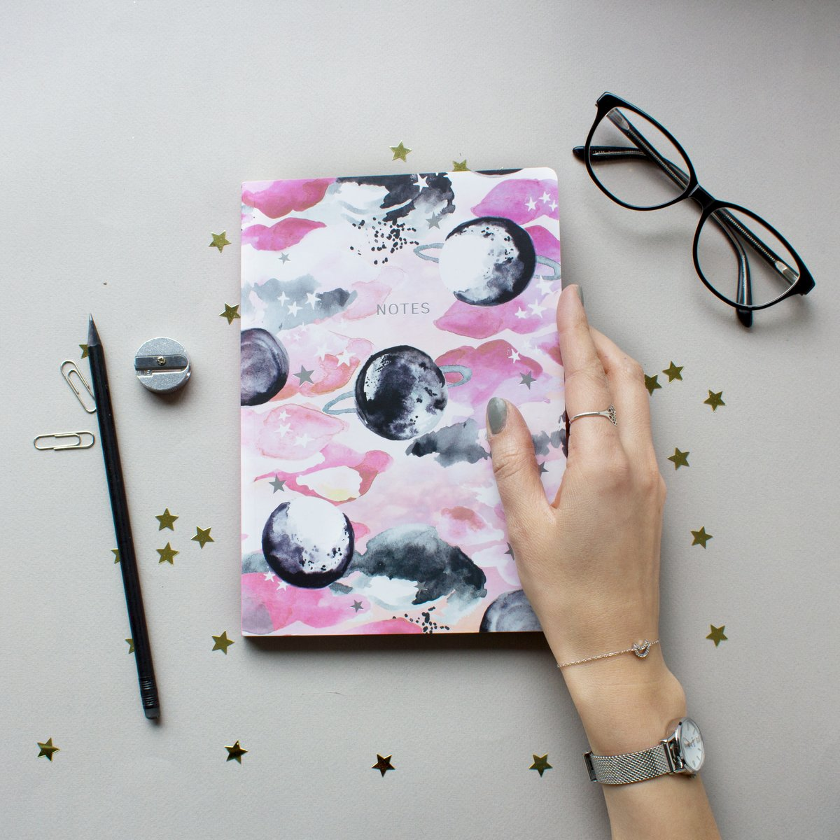 LIMITED EDITION Pink Celestial PLanet Notebook