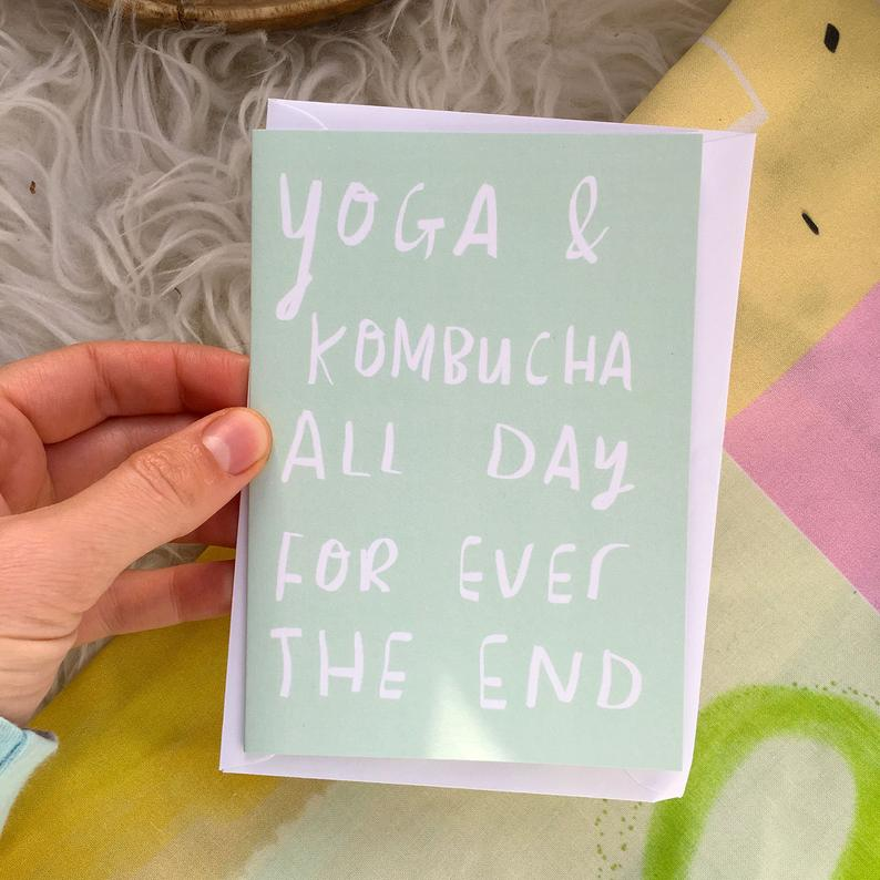 Yoga & Kombucha All Day Card