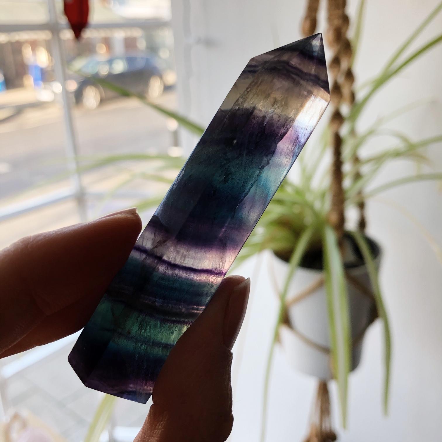 Rainbow Fluorite Points