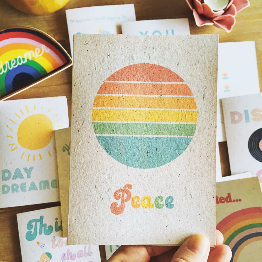 Recycled Peace Card