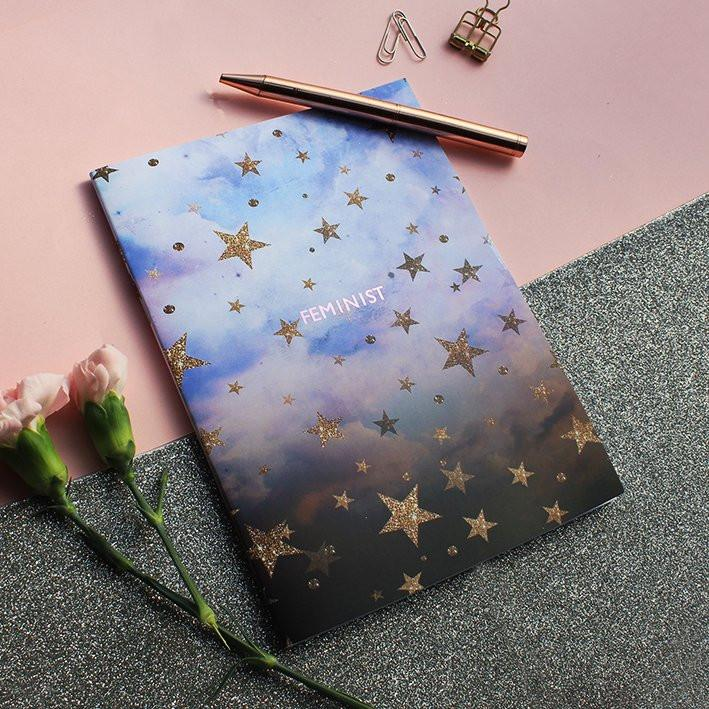 Feminist Cloudy Stars Notebook