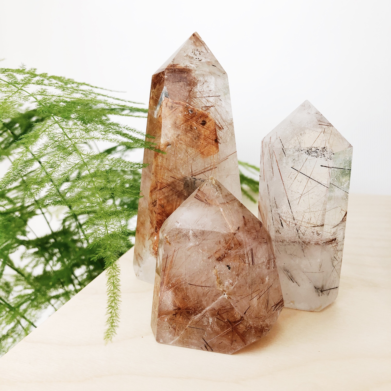 Rutile Quartz Points