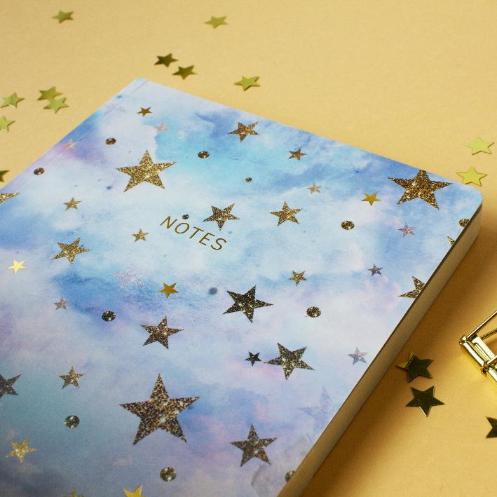 Thicker Cloudy Stars Notebook