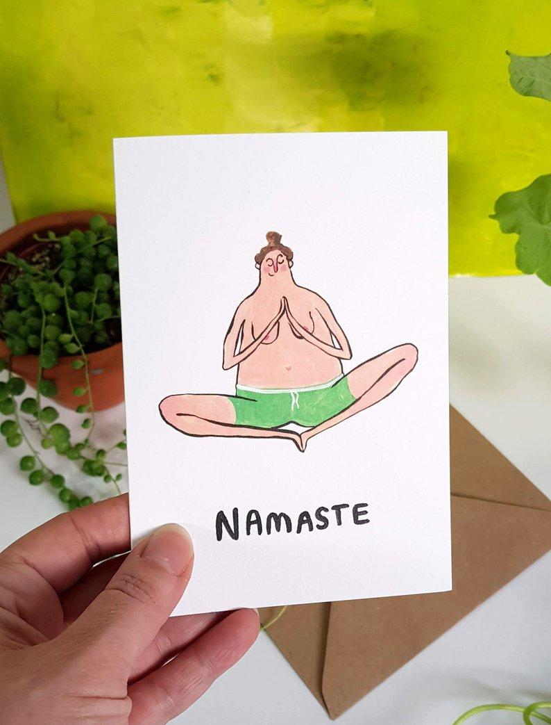 Naked Namaste Card