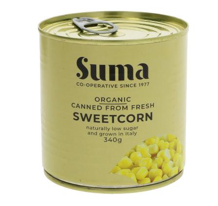 Suma Sweetcorn - Organic (340g)