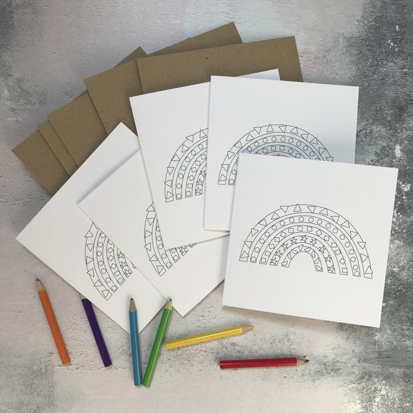 Colour in Cards (Pack of 5)