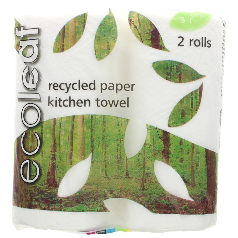 Ecoleaf Kitchen Towels  (2 rolls)