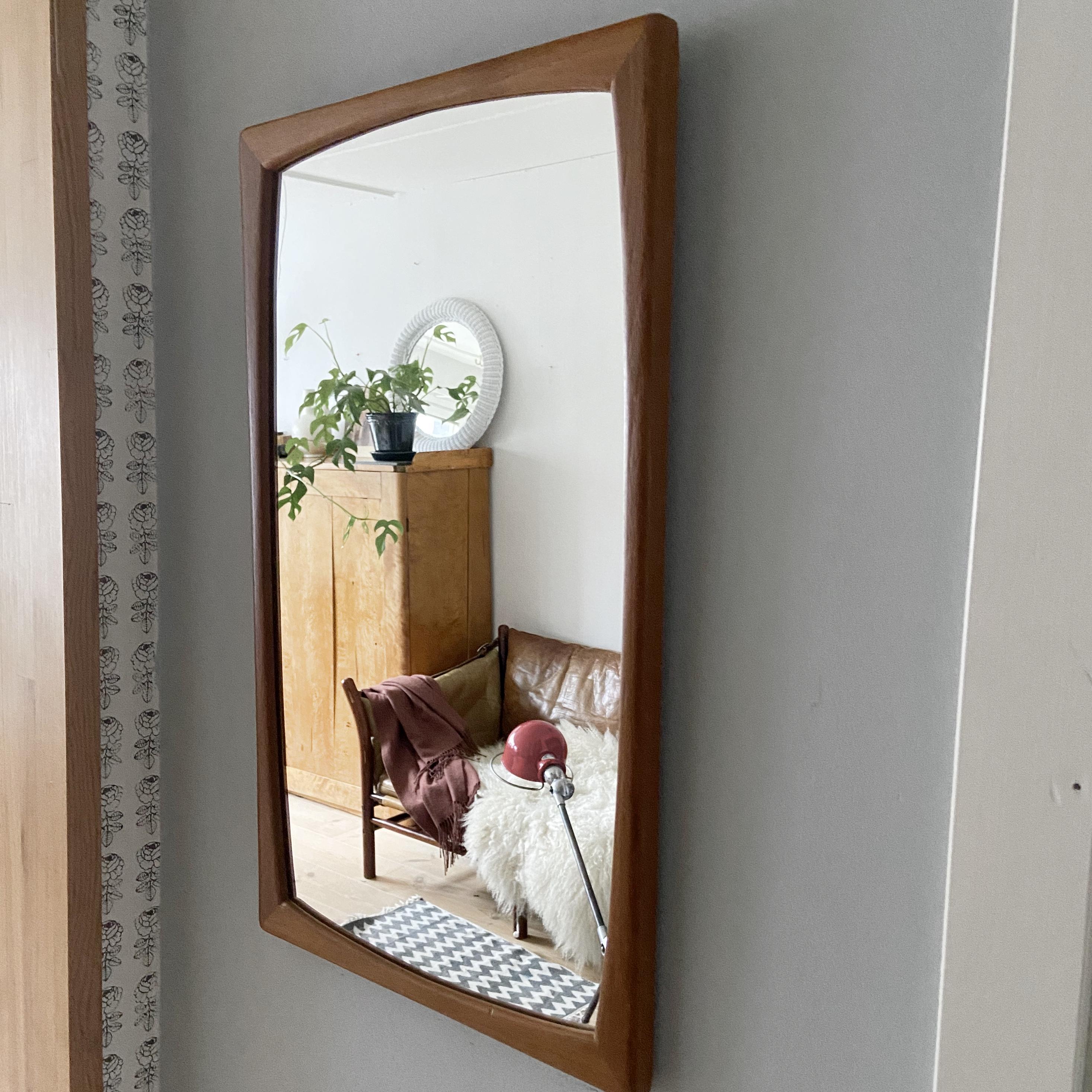 Spegel, teak