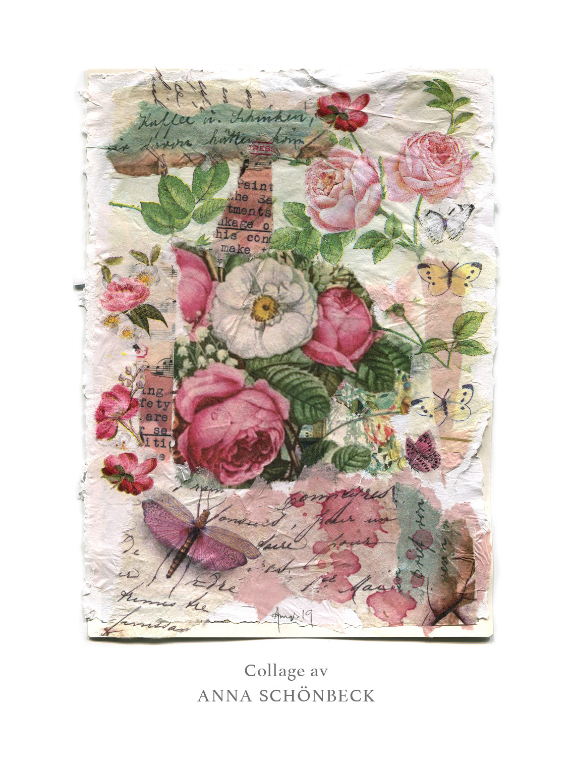 Konstkort / Vykort collage av Anna Schönbeck 6
