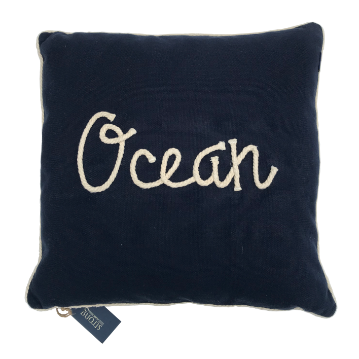 Kudde/Kuddar - Ocean Rope Cushion Cover 50*50 cm, Night blue
