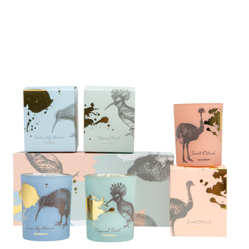 Doftljus Bird Collection set med 3 ljus