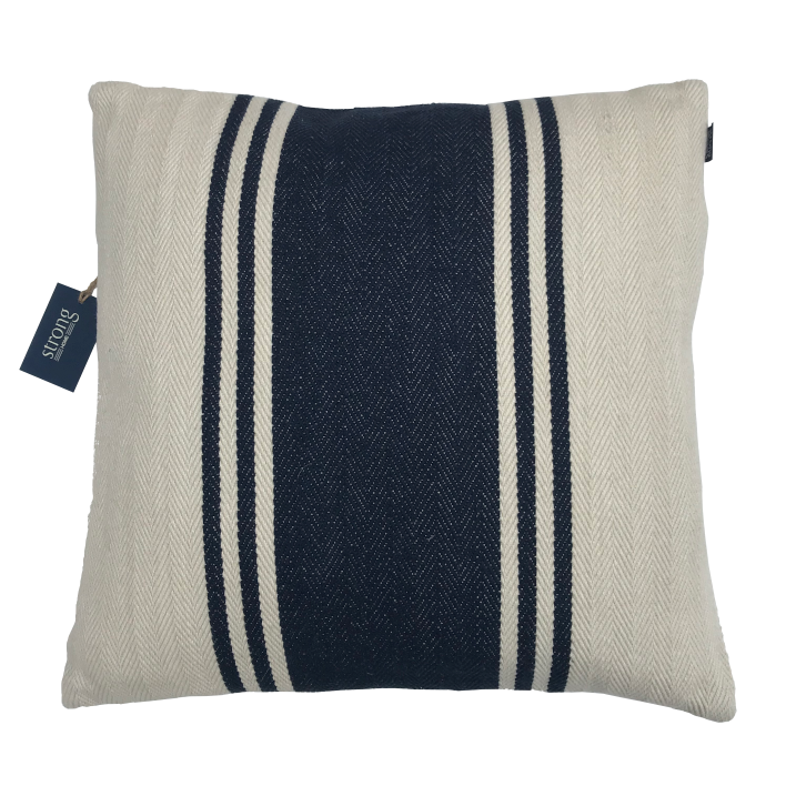 Kudde/Kuddar - Bold Stripe Cushion Cover 50*50 cm, Night blue