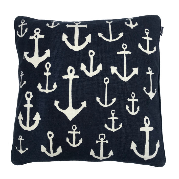 Kudde/Kuddar - Multi Anchors Cushion Cover 50*50 cm, Night blue