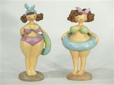 Figurin badflicka badringen runt magen