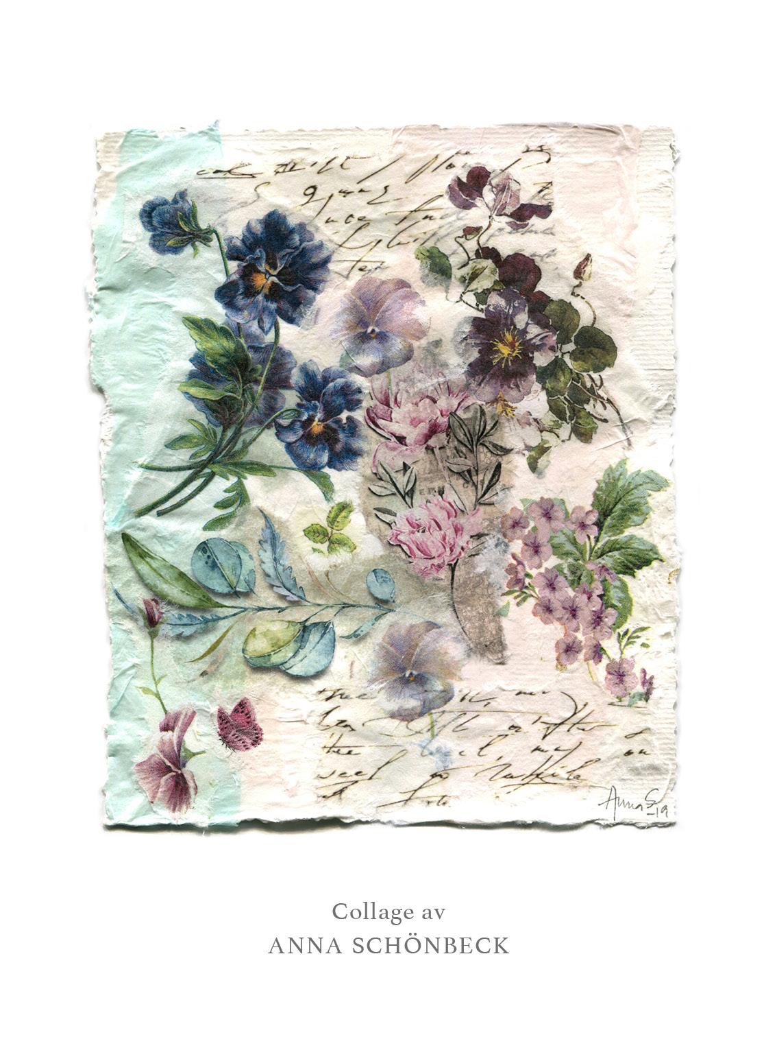 Konstkort / Vykort collage av Anna Schönbeck 1