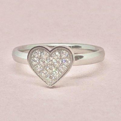 Ring Valentin crystal silverfärgad 18mm (Tilva)