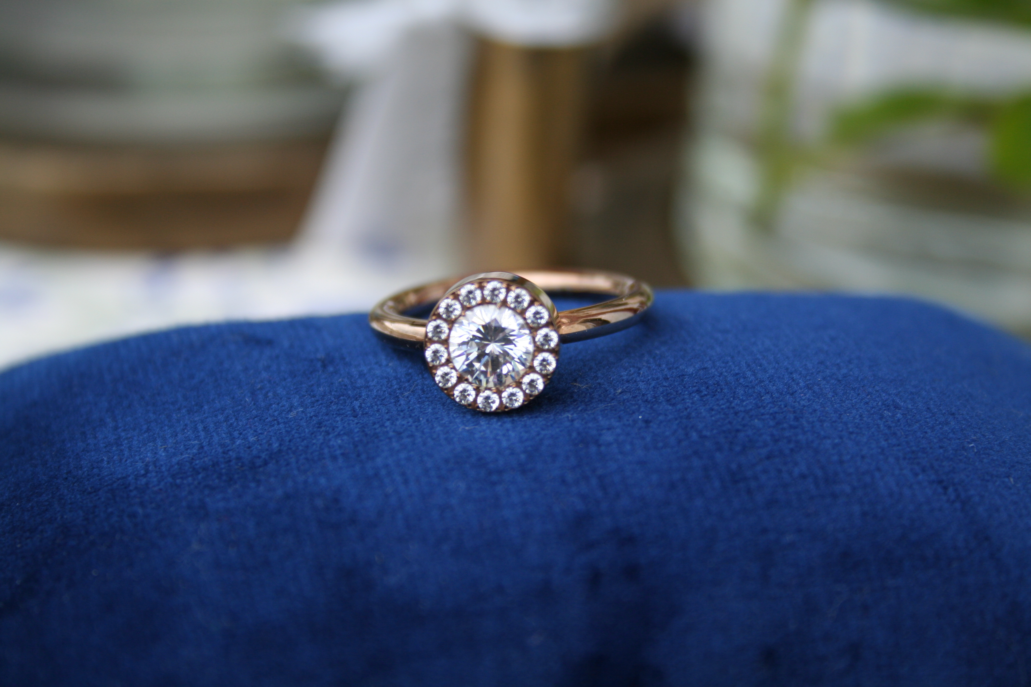 Ring Edblad med stenar (second hand, vintage, retro)