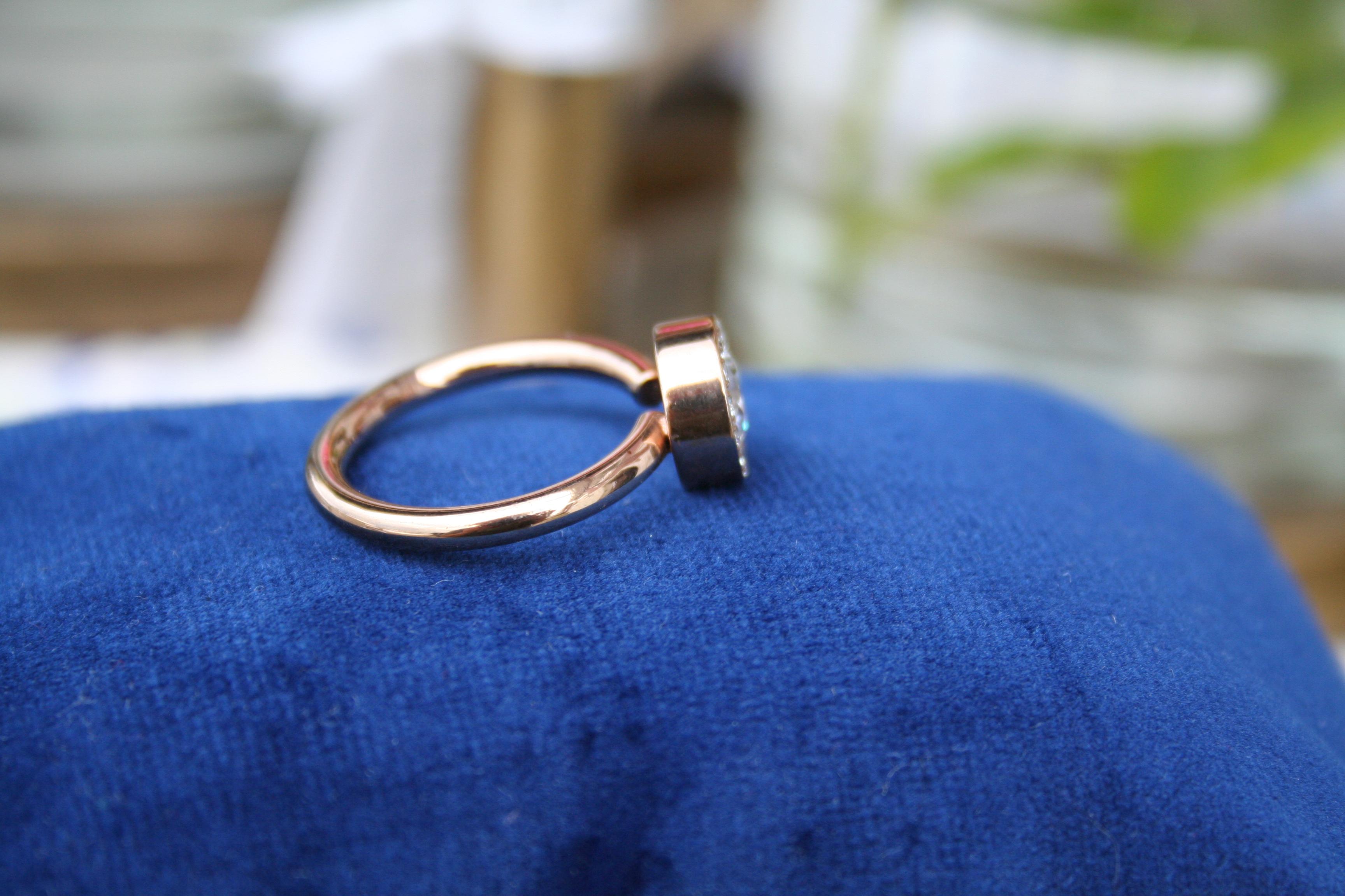 Ring Edblad med stenar (second hand, vintage, retro)