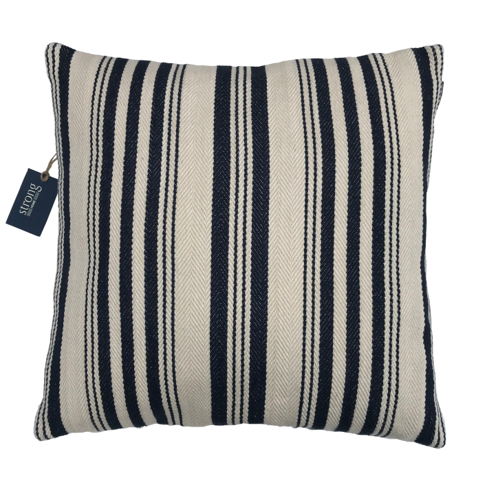 Kudde/Kuddar- Ticket Stripe Cushion Cover 50*50 cm, Night blue