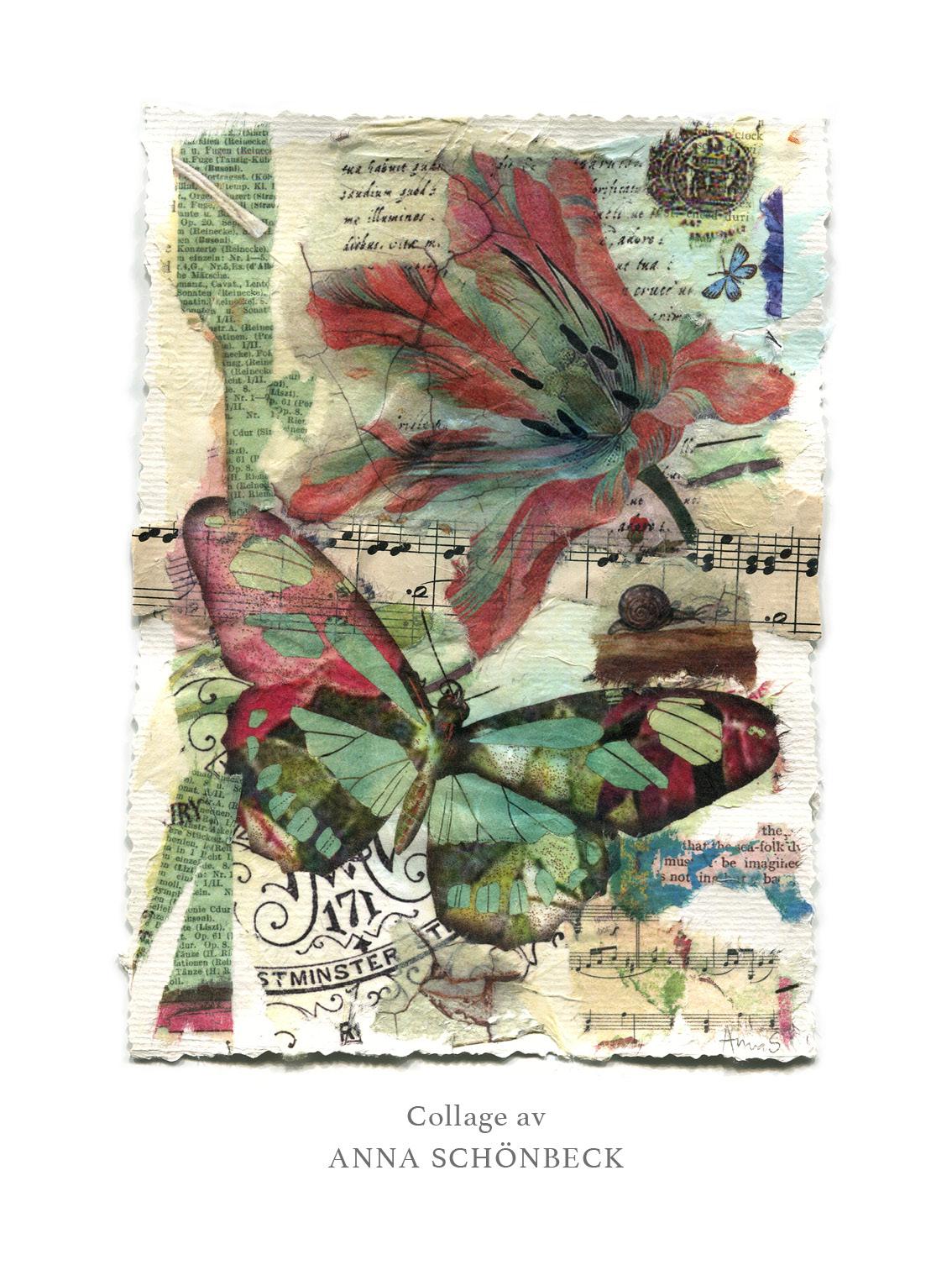 Konstkort / Vykort collage av Anna Schönbeck 5