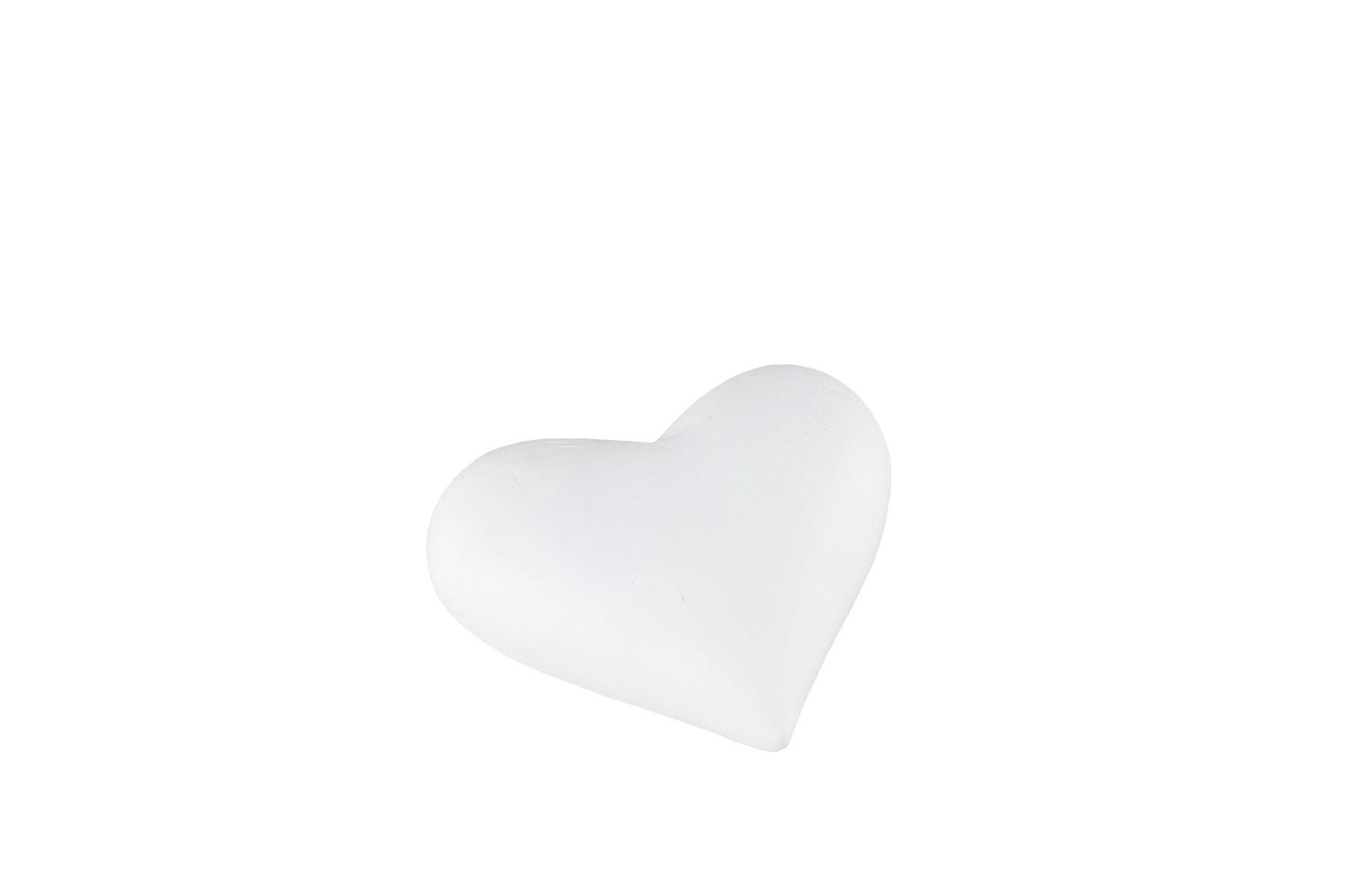 Hjärta Skrivbart Vit Poly 6x5,5x2cm