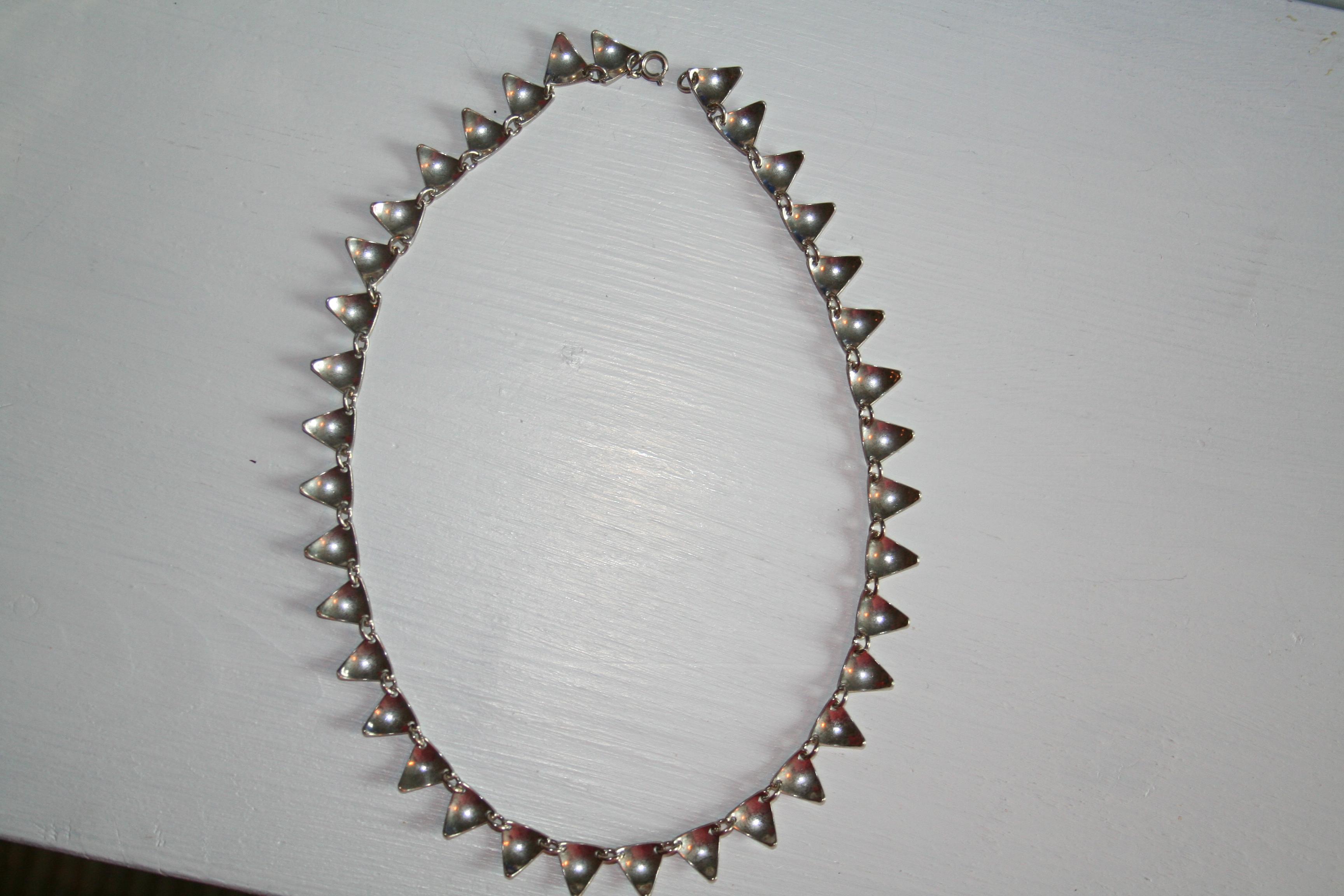 Halsband silver (second hand, vintage, retro)