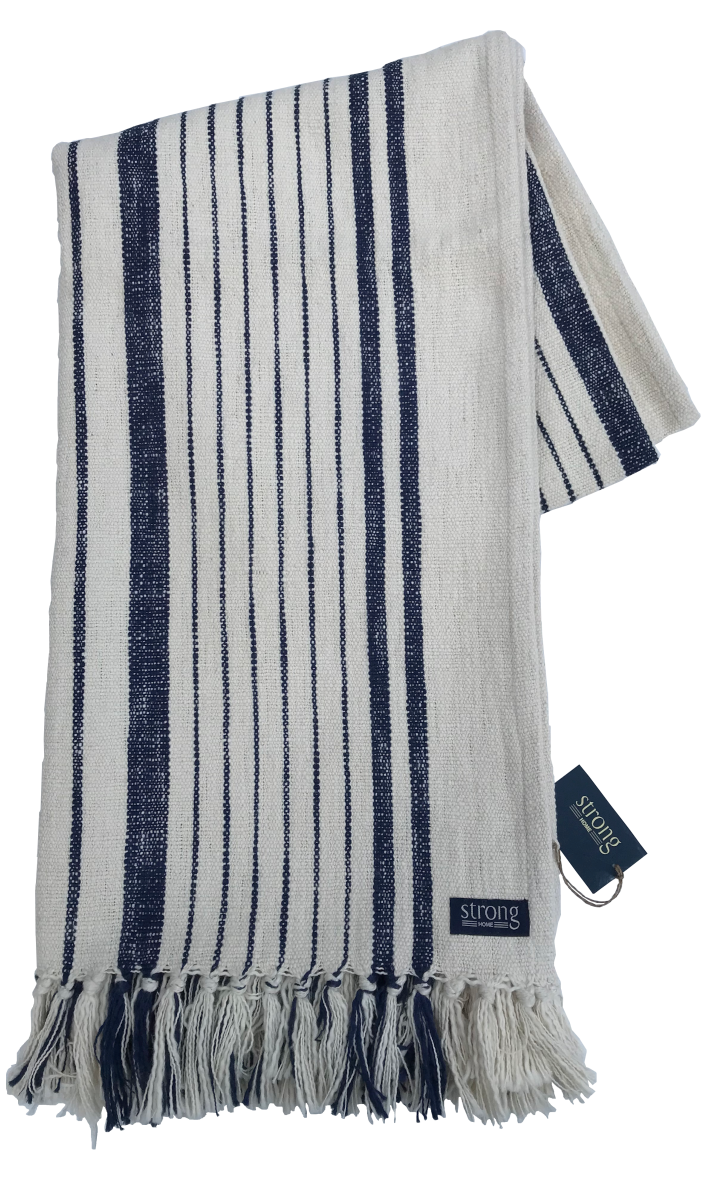 Pläd - Seastripe Throw 140*200 cm, Night blue