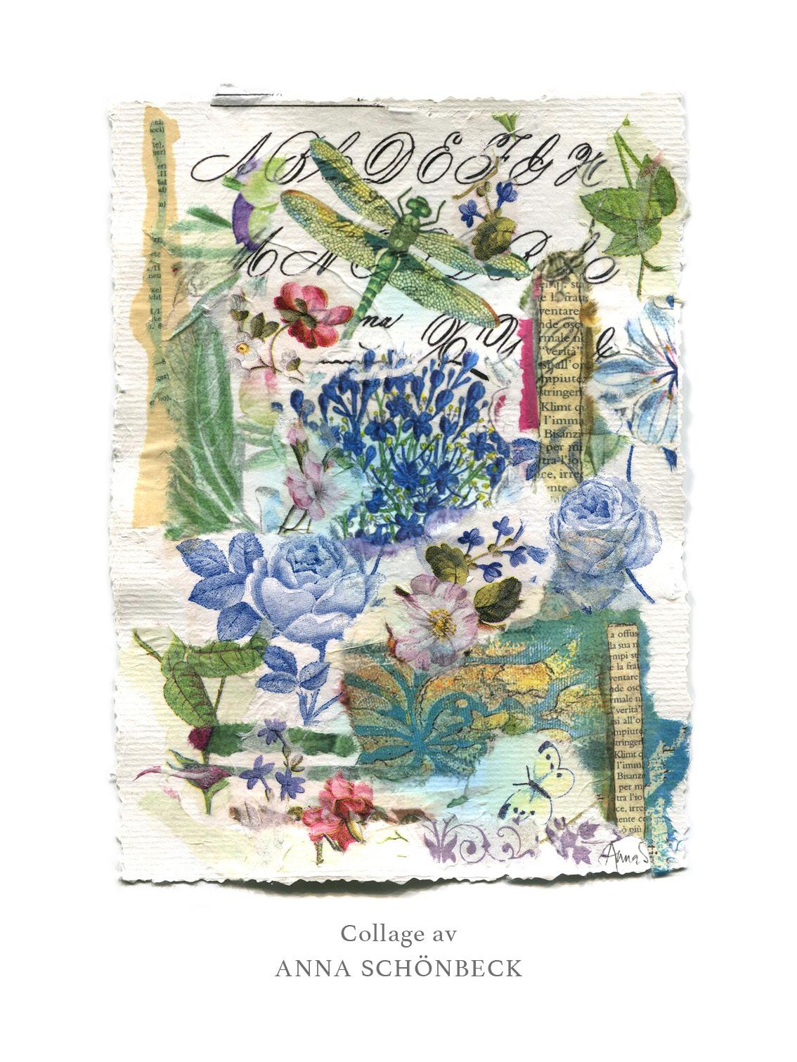 Konstkort / Vykort collage av Anna Schönbeck 2