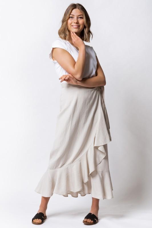 Kjol - Thalia Linen Skirt Sand