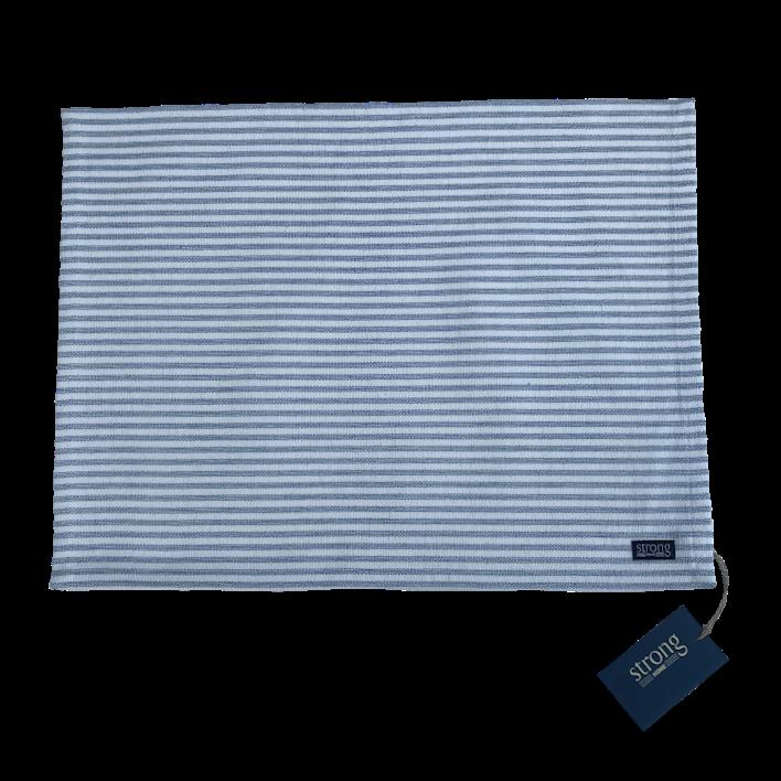 Tallriksunderlägg - Stripe Oxford Placemate 36*48 cm, Sky blue