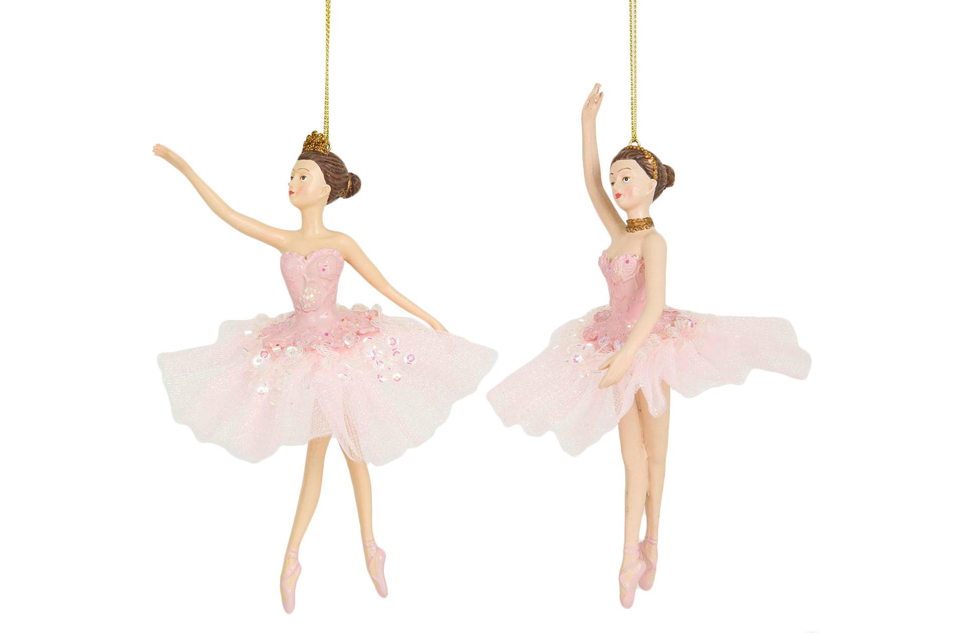 Ballerina Häng Rosa 10x17cm