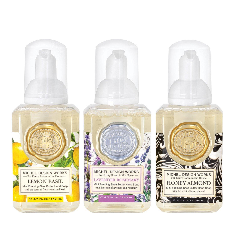 Tvål - 3 pack Skumtvål Honey A, Lemon, Lavendel - Michel Design Works (mini)