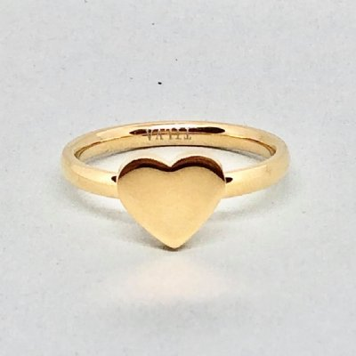 Ring Valentin stål gold 20mm (Tilva)