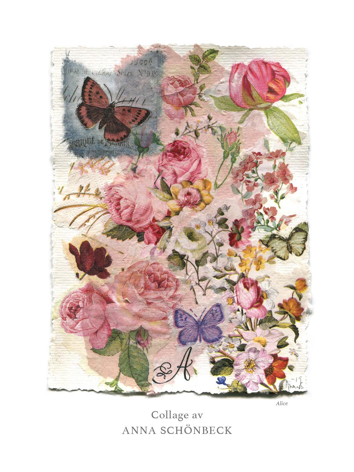 Konstkort / Vykort collage av Anna Schönbeck 7