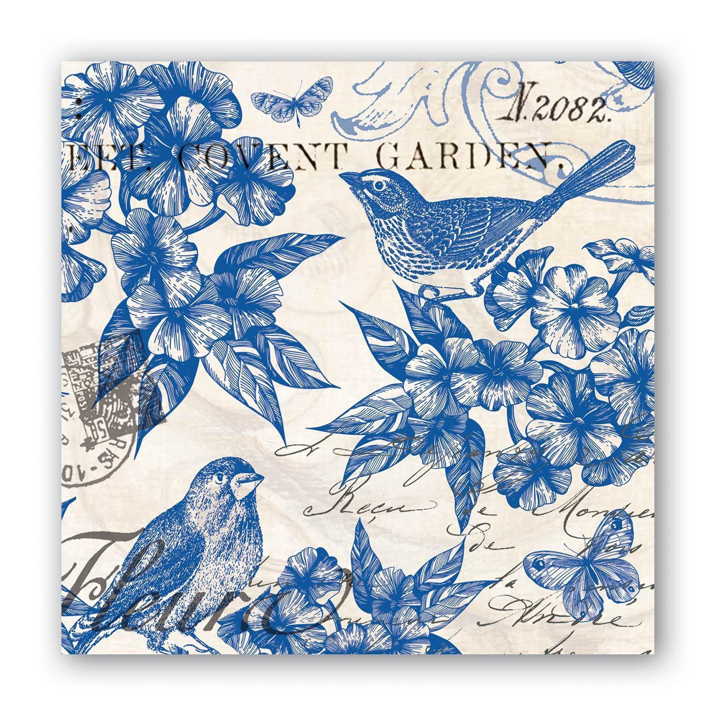 Indigo Cotton Coctail Servett, Michel Design Works